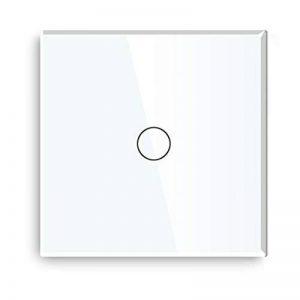 Variateur Interrupteur Tactile va-et-vient 1 touches Dimmable LED compatible Verre Blanc 86mm de la marque Bseed image 0 produit