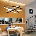 Variateur Télécommande LED Moderne Acrylique Suspension Luminaire de Salle à manger Lampe suspendu Luminaires d'intérieur Géométrie Design Plafonnier de Bureau D60cm Noir, variateur (variateur) de la marque Glamour-Eclairage image 1 produit