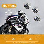 Veetop Intercom pour Casque Moto 1000M/Étanche Bluetooth - Set de 2 de la marque Veetop image 4 produit