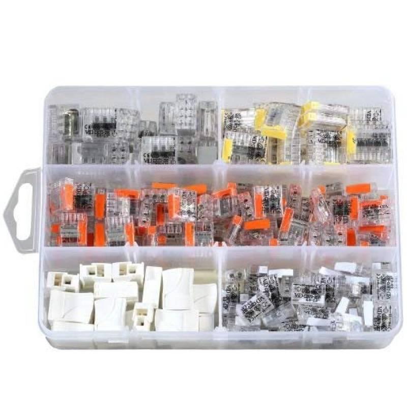 Boite 100 Mini Bornes de Connexion 4 Entr/ées C2073 ViD
