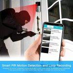 vidéo Sonnette, Mascarry Wifi Smart Sonnette, HD 720p Caméra de sécurité de porte, carte 8g Intégré, support de détection de mouvement, IR Vision de nuit, Audio Bidirectionnel et contrôle App pour iOS et Android de la marque MASCARRY image 4 produit