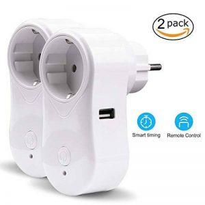 VIFLYKOO Intelligente Prise Connectée Wifi 2-Pack Télécommande avec Minuteur Prise Electrique Programmable Commutateur Interrupteur Domotique Smart Socket Compatible avec Android, iOS, Amazon Alexa de la marque VIFLYKOO image 0 produit