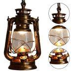 Vintage E27 Edison Kérosène Pétrole Lampe Suspensions Lèche-murs Vintage Applique Lampe Lanterne ampoule E27/E26 Diamètre 15,5 cm de la marque EUBEISAQI image 3 produit