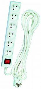 Voltman DIO013076 Bloc 6 prises 2P + T + Interrupteur cordon 4 m de la marque Voltman image 0 produit
