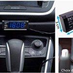 Voltmètre de Voiture 3 en 1 - Voltage Batterie / Heure/ Thermomètre de la marque Fishtec image 2 produit