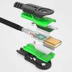 Volutz® Câble USB C/Type C vers Prise USB à Recharge Rapide (Lot de 5) plaqué Or et en Nylon tressé (3m + 2m + 2x1m + 30cm) pour Samsung Galaxy S8/Plus, Nexus 5X/6P, Nintendo Switch et Plus de la marque Volutz® image 1 produit