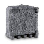 Waldbeck Timer Rock Prise de jardin • 1,5 m de câble Programmateur • Répartiteur à 2 prises protégées • Etanche et résistant aux intempéries d'après IP44 16 A / 250 V ~ • Pierre artificielle de belle forme en polyrésine d'optique granite • Gris foncé de l image 1 produit