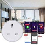 Wanfor Smart Plug Wifi télécommande UK Socket Minuteur LED sans hub d'économie d'énergie Fournitures, 2.30X 2.20in de la marque Wanfor image 2 produit