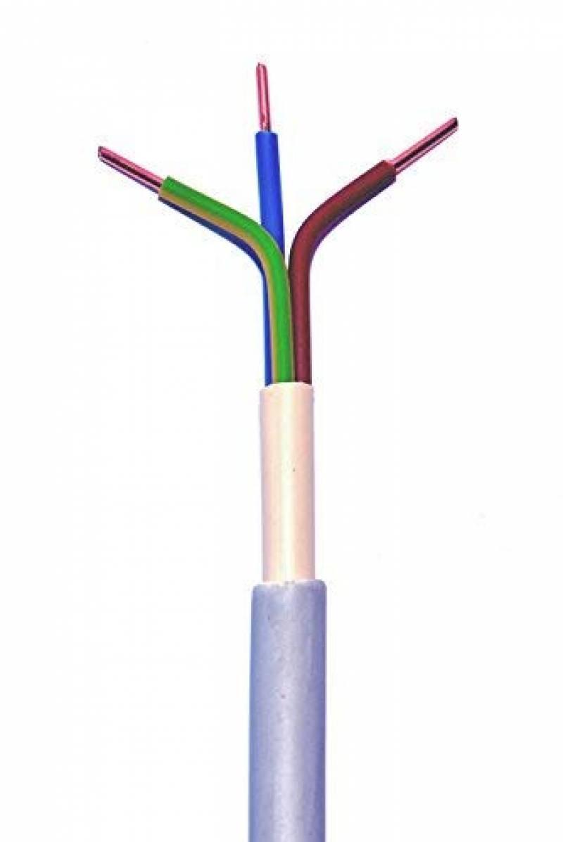 Ebrom C/âble /électrique sous gaine NYM-J 3 x 2,5/mm/² Gris Vendu au m/ètre par/ex. 5 m, 10 m, 15 m, 18 m, 20 m, 25 m, 50 m, etc.