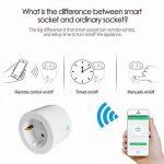 WAZA Connecteur Wi-FI Mini Smart Plug Compatible avec Alexa et Google Assistant, Contrôle Vocal pour appareils Ménagers EU Plug de la marque WAZA image 4 produit