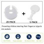 Wemk Cache Prise Bébé avec clés + pièces Protections Coin de Table Pack de Securité pour Enfants/bébés … de la marque Wemk image 1 produit
