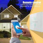 Wifi Commutateur intelligent, commutateur d'éclairage mural sans fil Echo Compatible avec Alexa/Google Home, panneau de verre sensible au toucher, pas de concentrateur requis de la marque GREMAG image 3 produit