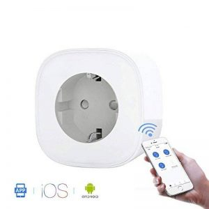 WiFi Intelligente Prise Smart Plug Compatible pour Android iOS Amazon Alexa Google Home Smart IFTTT Prise de Courant aucun Hub Nécessaire Télécommande par smartphone avec Fonction de Calendrier de Partout de la marque CaaWoo image 0 produit
