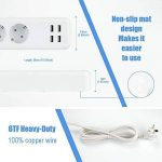 Wifi Multiprise Intelligente 3 Sortie Intelligente EU et 4 Ports USB Compatible avec Amazon Alexa Google Home pour Smartphone (multiprise, blanc) de la marque hyleton image 2 produit