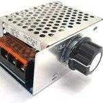 WINGONEER Dimmer Thermostat Controller AC 220V 4000W haute puissance SCR électronique Régulateur de tension Gouverneur Vitesse de la marque WINGONEER® image 1 produit