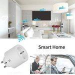 WLAN Smart Plug Mini Smart Plug Compatible avec Alexa (Echo, Echo Dot) et Google Home EU Plug pour IOS/Android Phone télécommande blanc par WAZA (2) de la marque WAZA image 4 produit