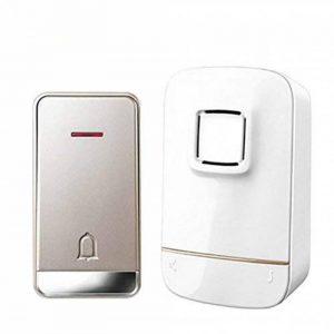 WYMLKUD Sonnette Autonome sans Fil, Ménage Imperméable Sonnette Électronique, Flash LED, Matériau Plastique, Blanc (Couleur : Blanc, Taille : A1) de la marque WYMLKUD image 0 produit