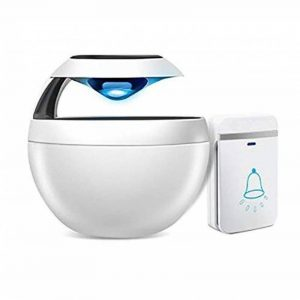 WYMLKUD Sonnette sans Fil Autonome, Flash LED, Ménage Imperméable Sonnette À Distance, Matériau Plastique, Blanc (Couleur : Blanc) de la marque WYMLKUD image 0 produit