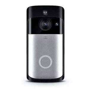 Xsayjia Sonnette vidéo Wi-FI Smart Sonnette Caméra 720 HD Sonnettes Interphone sans Fil Sonnettes pour iOS et Android de la marque Xsayjia image 0 produit