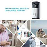 Xsayjia Sonnette vidéo Wi-FI Smart Sonnette Caméra 720 HD Sonnettes Interphone sans Fil Sonnettes pour iOS et Android de la marque Xsayjia image 3 produit