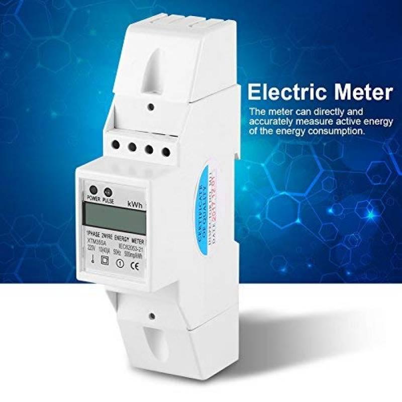 220V Compteur D/énergie /à /Écran LCD Monophas/é Sert /à Mesurer la Consommation D/énergie la Quantit/é D/énergie Utilis/ée