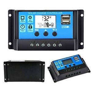 Y-Solar double USB 10A/20A/30A solaire contrôleur de charge 12V/24V Auto Paremeter réglable PWM LCD solaire contrôleur Régulateur de charge avec minuteur Réglage on/off heures 30A de la marque Y-Solar image 0 produit