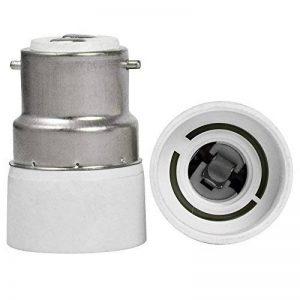 Yayza! 2-Pack B22 à Ampoule à Culot E14 Lampe Base Socket pour Adaptateur Convertisseur de Puissance Maximale de 500W Résistant à la Chaleur Jusqu'à Une Valeur Atteignant 220 ℃ Aucun Risque D'incendie Certifié CE de la marque YAYZA! image 0 produit