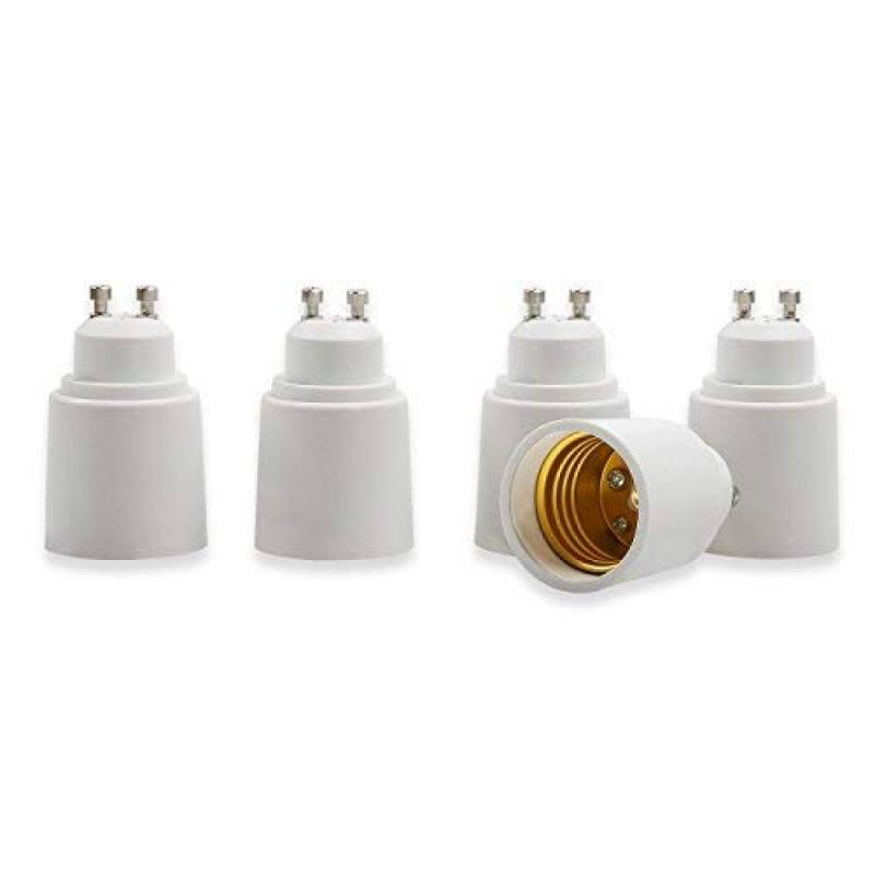 Eleidgs 6 PCS E27 vers GU10 Adaptateur de Douille Ampoule LED Base Douille E26 /à GU10 Lamp Holder Converter