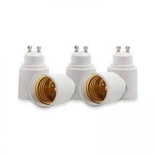 Yblntek - Lot de 5 convertisseurs d'ampoule pour support de lampe B22 vers E27 - Adaptateur de douille de base - Convertisseur de lumière LED, Plastique Métal, Gu10 to E27, GU10 to E27, E14 de la marque YBLNTEK image 0 produit