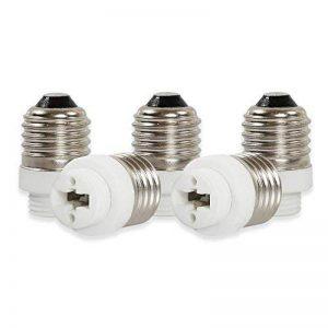 Yblntek Lot de 5 supports de lampe Adaptateur d'ampoule lumière LED, Plastique Métal, E27 to G9, E27 to G9, E14 de la marque Onvian image 0 produit