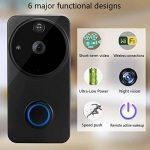 YFQH Sonnette Caméra Vidéo Maison Sonnette Smart WiFi Téléphone Mobile Caméra De Surveillance À Distance de la marque YFQH image 1 produit