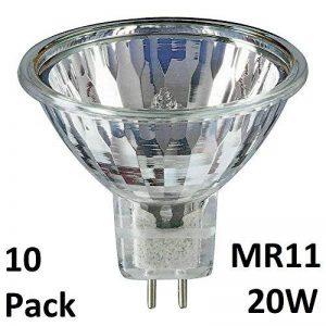 Yifeng - Lot de 10 ampoules halogènes à réflecteur dichroïque variable MR11 20 W 12 V, basse tension 12V 20 W culot GU4 de la marque YIFENG image 0 produit