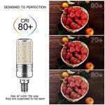 Yiizon 15 W LED Maïs ampoules, E14, 120W Ampoule à incandescence équivalent, 3000K Blanc Chaud, 1500LM, Cri>80 +, Petit culot à vis, non dimmable, Chandelier ampoules LED(4 PCS) de la marque Yiizon image 4 produit