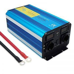 yinleader inverseur de Courant Onde Pure 2500W 5000W transformateur DE 12V à 230V convertisseur USB LED 2Prise pour Voiture Caravane Camping de Voyage de la marque Yinleader image 0 produit