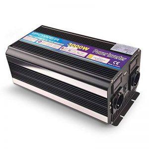 yinleader Onduleur Onduleur 3000W pour voiture, 6000W (maximum) transformateur de 12V à 230V, puissance & avec 2prise prises + USB et écran LED, pour voiture, caravane, bateau, camping, de voyage de la marque Yinleader image 0 produit