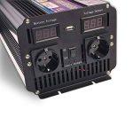 yinleader Onduleur Onduleur 3000W pour voiture, 6000W (maximum) transformateur de 12V à 230V, puissance & avec 2prise prises + USB et écran LED, pour voiture, caravane, bateau, camping, de voyage de la marque Yinleader image 1 produit