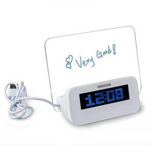 YJIUJIU Horloge Électrique Réveil Memo Board Rétro-Éclairage À La Mode La Maison Surligneur Silencieux de la marque YJIUJIU image 0 produit