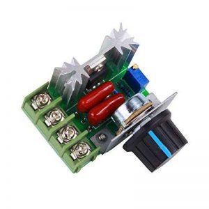 Yosoo PWM Contrôleur moteur AC contrôle Vitesse 2000 W Tension réglable Régulateur 50-220 V 25 A LED variateurs de la marque Yosoo image 0 produit