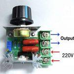 Yosoo PWM Contrôleur moteur AC contrôle Vitesse 2000 W Tension réglable Régulateur 50-220 V 25 A LED variateurs de la marque Yosoo image 2 produit