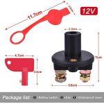 YoungRich Batterie de Voiture Sectionneur Couper Interrupteur Kill off/on Isolateur Interrupteur de Batterie DC 12V 200A pour Marine Bateau RV Véhicules (Rouge + Noir) de la marque YoungRich image 1 produit