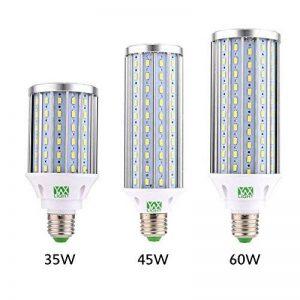 YWXLight LED Ampoule à maïs, lampe de rue LED, projecteur à 360 degrés, pour garage, allée, entrepôt, ampoule à LED Sch LED, 35W, 45W, ampoule LED 60W, (E26 / E27) Cold White 5500K-6500K, (45W-Lumière chaude) de la marque YWXLight image 0 produit