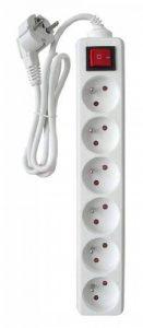 Zenitech - Bloc 6 Prises 16A avec interrupteur Blanc de la marque Zenitech image 0 produit