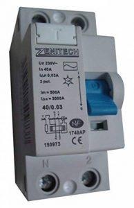Zenitech - Interrupteur différentiel 40/2 30mA Type AC NF de la marque Zenitech image 0 produit