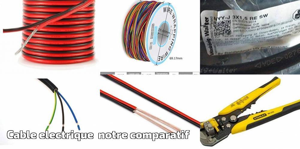 2,5/mm/ Bulk Hardware BH01430 10 m /Gris c/âbles de Terre et c/âbles Plats Jumeaux 6242Y