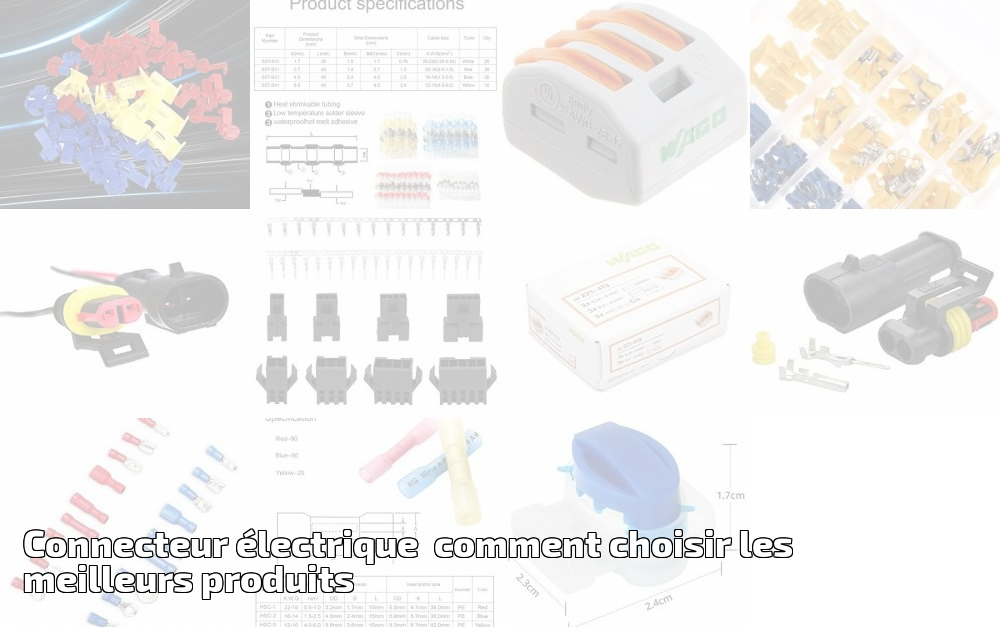 4 2 Aussel Lot de 6 connecteurs /électriques /étanches m/âles et femelles pour voiture 3 22 /à 16 AWG 6 12 broches 8
