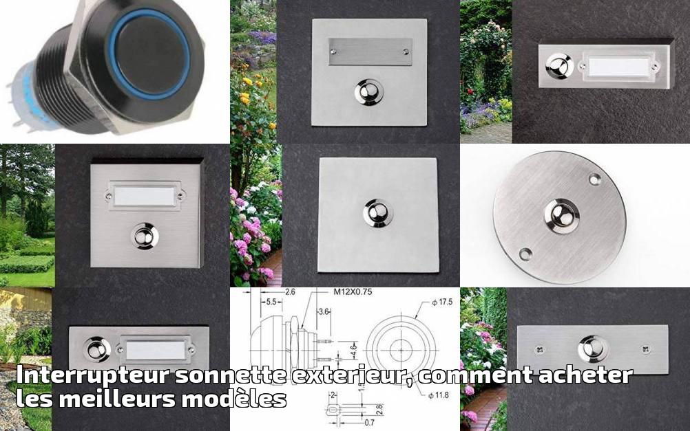 Interrupteur bouton-poussoir sonnette porte Carré murale 250V 16A